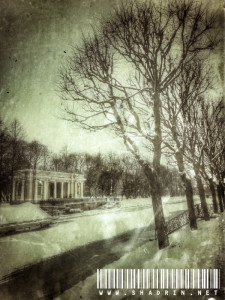 Зима. Вид на реку Мойка. Михайловский сад.